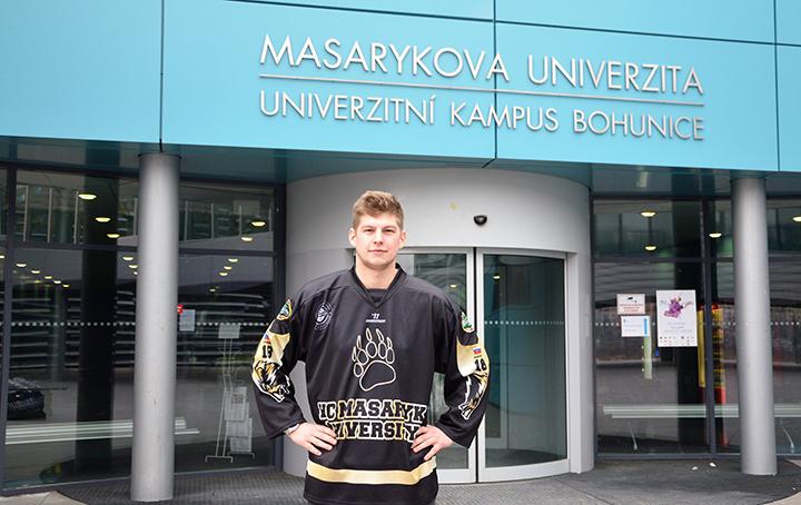 Jan Vaverka, hráč HC Masaryk Univerzity. Foto: Zuzana Vrbecká