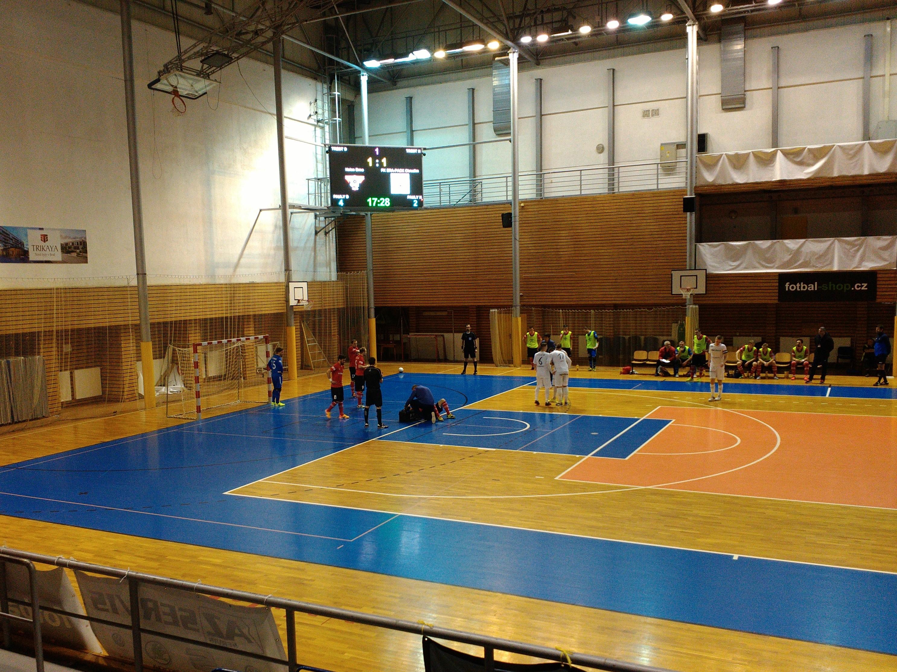Futsalisté Helasu Brno doma podlehli Chrudimi 1:5.