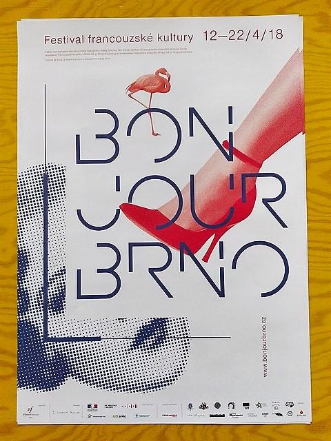 Plakát k festivalu francouzské kultury. Autor: Vojtěch Labuda