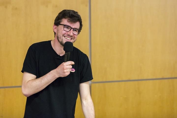 Janek Rubeš na besedě Lidé z praxe, foto: Jana Hostičková