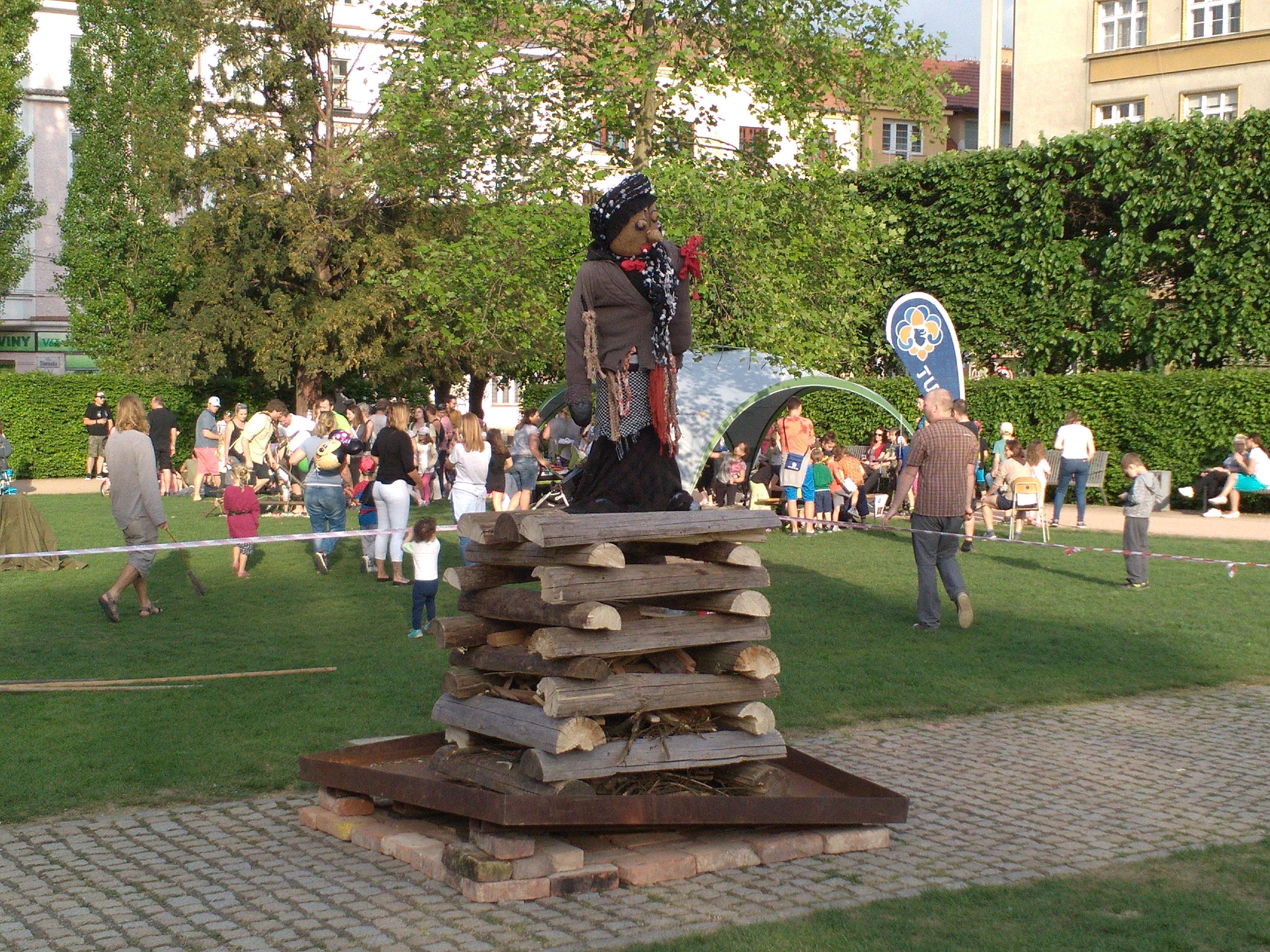 Královopolská čarodějnice před uhořením. Foto: Ondřej Zoubek