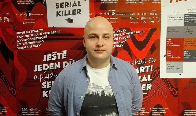 Jegor Baranov na festivalu Srerial Killer. Autor: Vojtěch Labuda