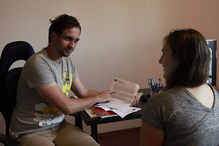 Nácvik pracovního pohovoru, foto: Jana Hostičková