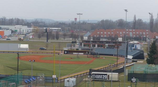 Baseballový stadion nacházející se v Komárově. Foto: Veronika Charvátová
