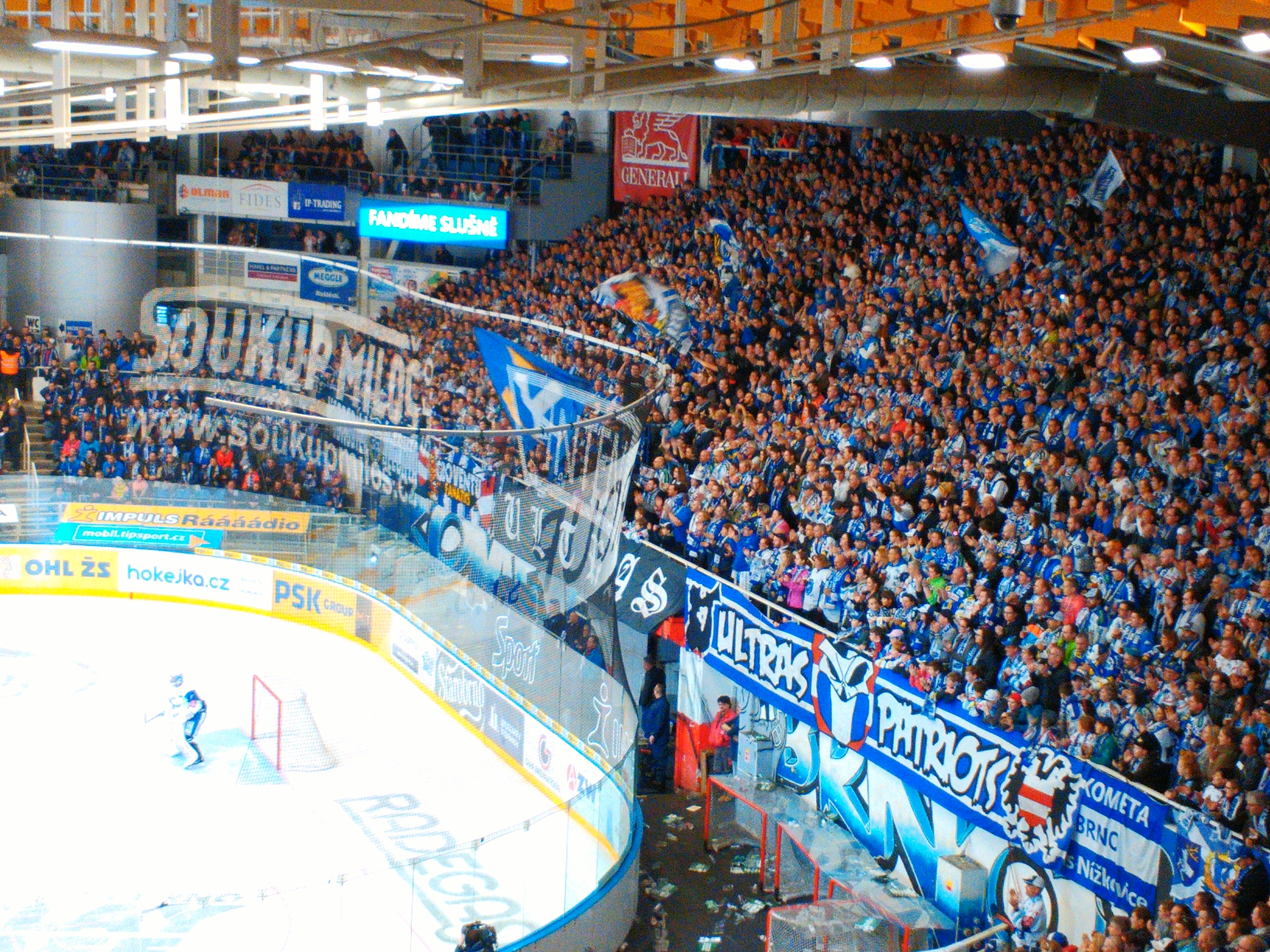 A crowd of Kometa's fans are supporting home team. Photo: Ondřej Zoubek