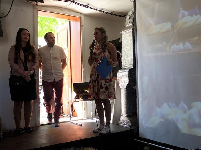 V odborné porotě byla organizátorka Veronika Pořízková a také loňský vítěz David Tuška zvolený odbornou porotou. Foto: Veronika Charvátová