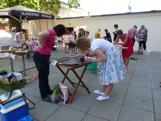 Účastníci soutěže začali s přípravami kolem třinácté hodiny. Foto: Veronika Charvátová
