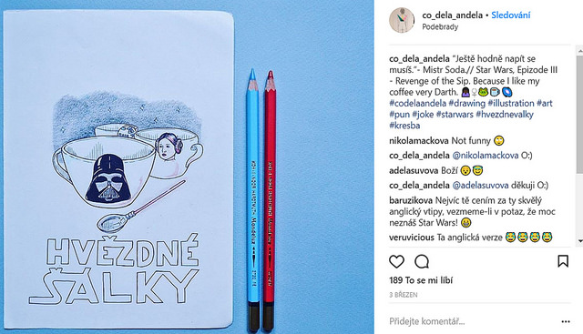Obrázek, který nakreslila Eliška. Foto: Instagram Elišky Andělové